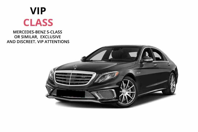 Mercedes S-Class luxury chauffeured car rental in Venice